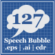 127 Speech Bubble - GraphicRiver Item for Sale