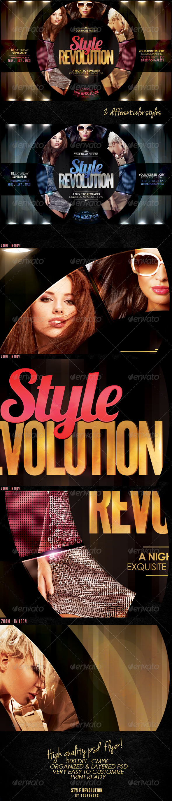 Style Revolution Flyer Template - Clubs & Parties Events