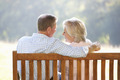 Senior couple sitting outdoors - PhotoDune Item for Sale