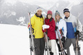 Group Of Middle Aged Couples On Ski Holiday In Mountains - PhotoDune Item for Sale