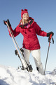 Middle Aged Woman On Ski Holiday In Mountains - PhotoDune Item for Sale