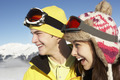 Two Teenagers On Ski Holiday In Mountains - PhotoDune Item for Sale