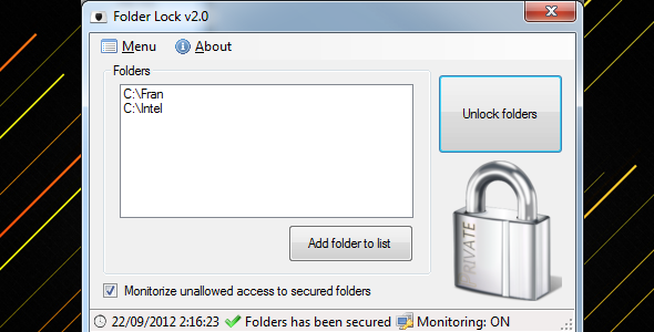 Folder Lock - CodeCanyon Item for Sale