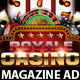 Casino Magazine Ad or flyer Template V5 - GraphicRiver Item for Sale