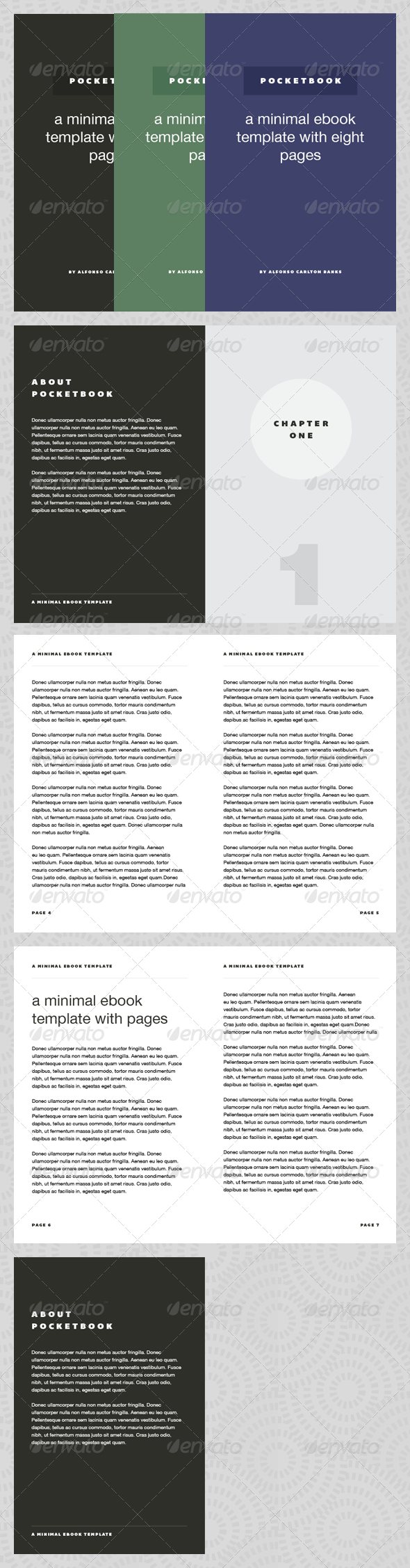 Pocket Book - eBook Template - Miscellaneous Print Templates