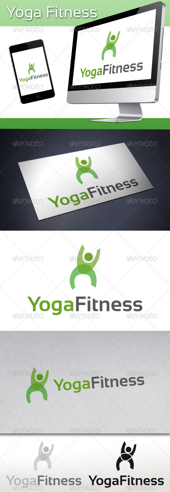 Yoga Fitness Logo - Humans Logo Templates
