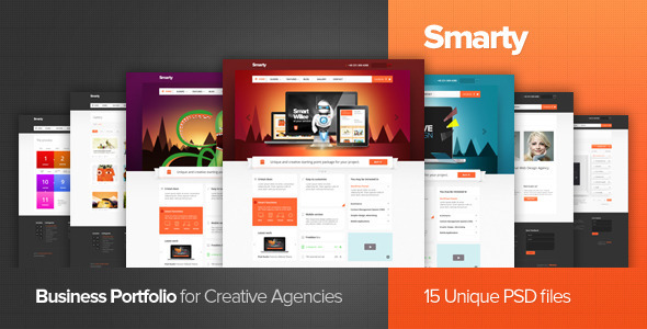 Smarty - Business Portfolio for Creative Agencies - Creative PSD Templates