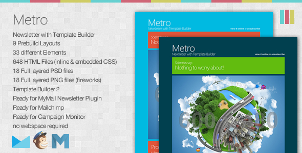 ThemeForest Metro Newsletter with Template Builder 2630053