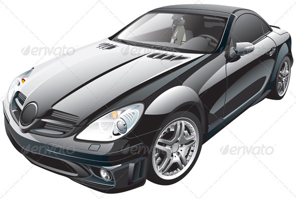 Black Sport Car - Objects Vectors