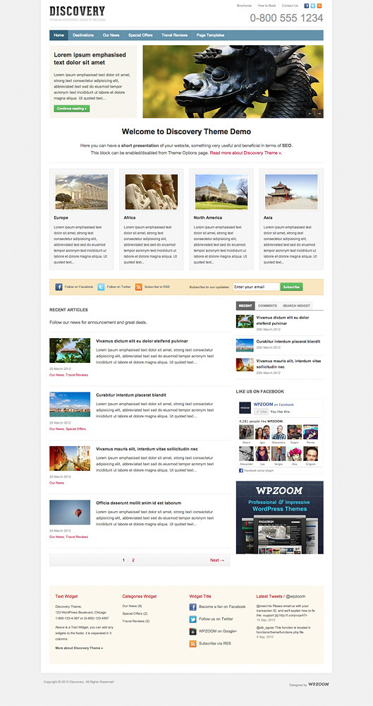 Discovery - WordPress Business and Travel Theme
