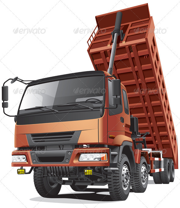 Large Dumper in Action - Objects Vectors