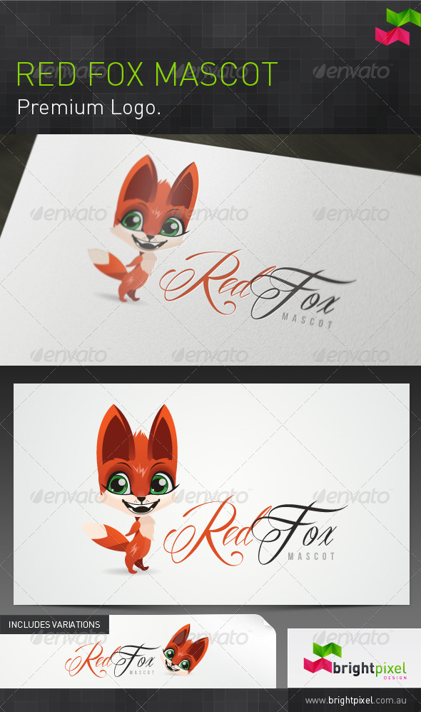 Red Fox Mascot and Brand - Animals Logo Templates