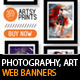 Art &amp;amp; Photography Web Banner Templates - GraphicRiver Item for Sale