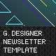 Graphic Designer Newletter Template - ThemeForest Item for Sale
