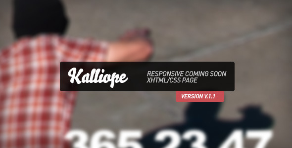 ThemeForest Kalliope Responsive Coming Soon Page 3028840