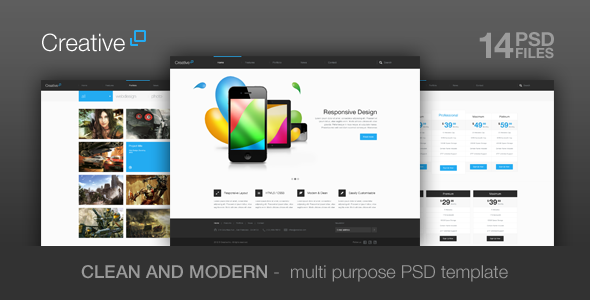 ThemeForest Creative Multi Purpose PSD Theme 3081831