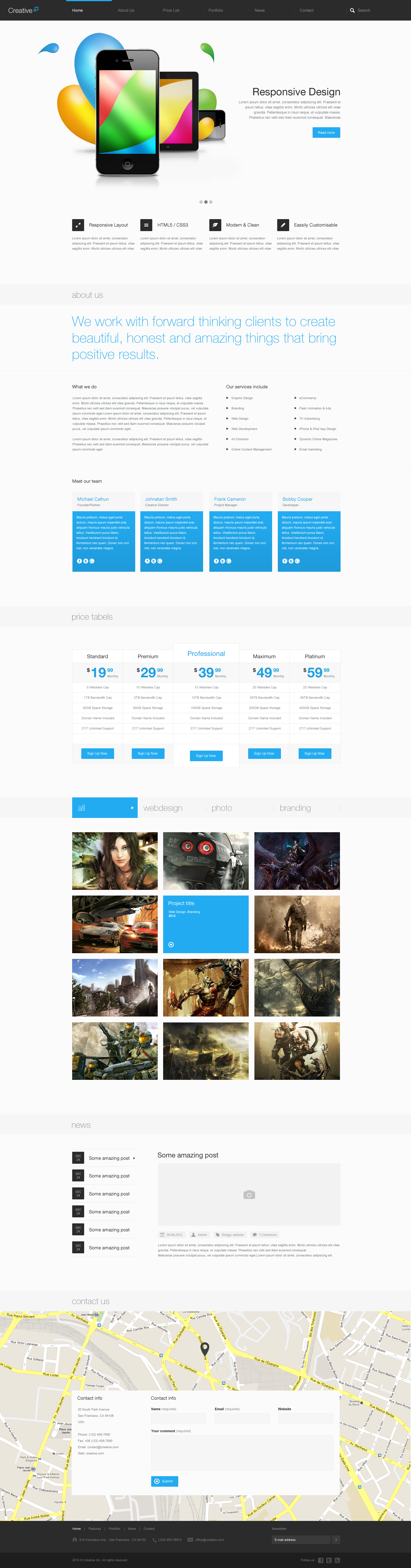 Creative - Multi Purpose PSD Theme