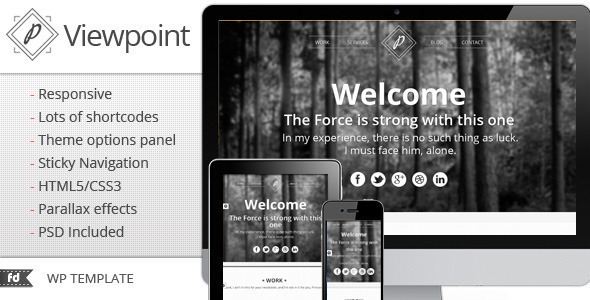 ThemeForest Viewpoint Responsive single page portfolio 2793926
