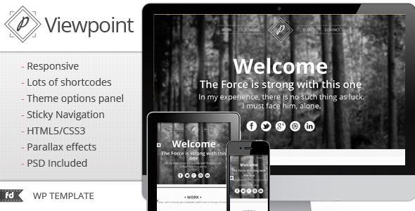 ThemeForest Viewpoint Responsive single page portfolio 2793926