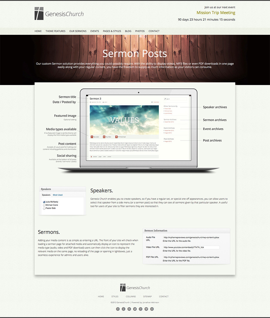 Genesis Church - Premium Responsive WordPress Them