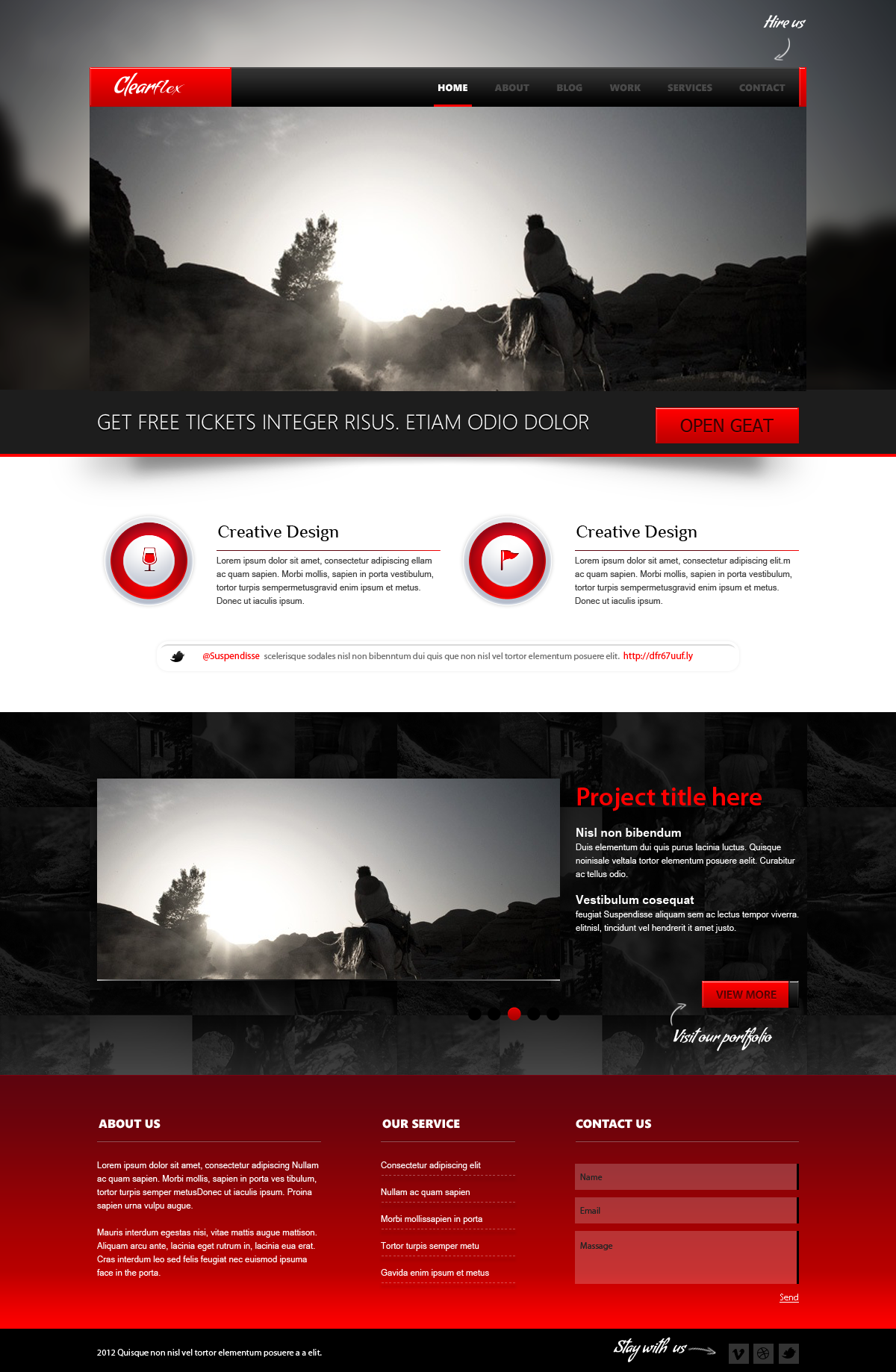 Clearflex PSD Templates - 02_Home page with slider