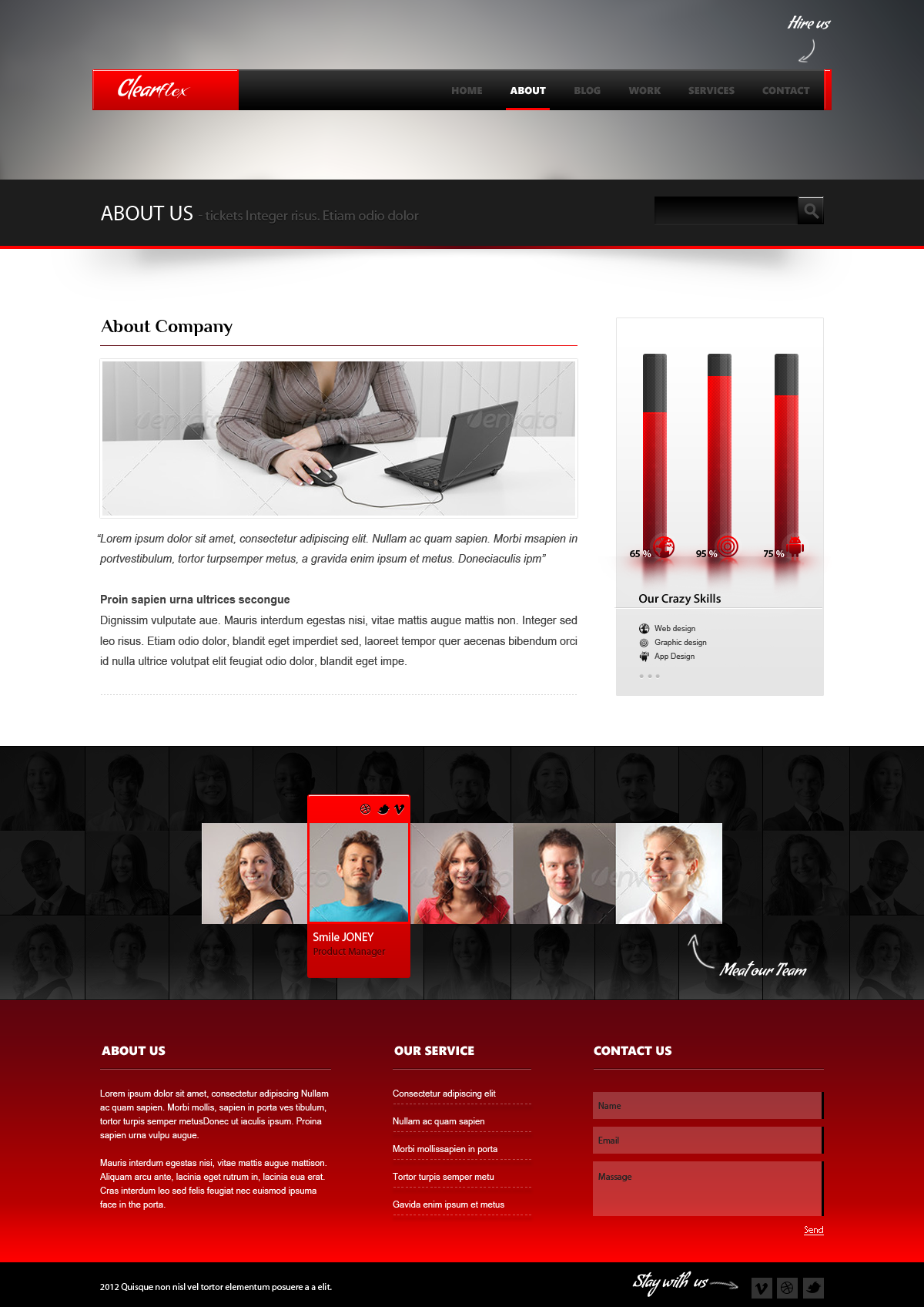 Clearflex PSD Templates - 05_About page