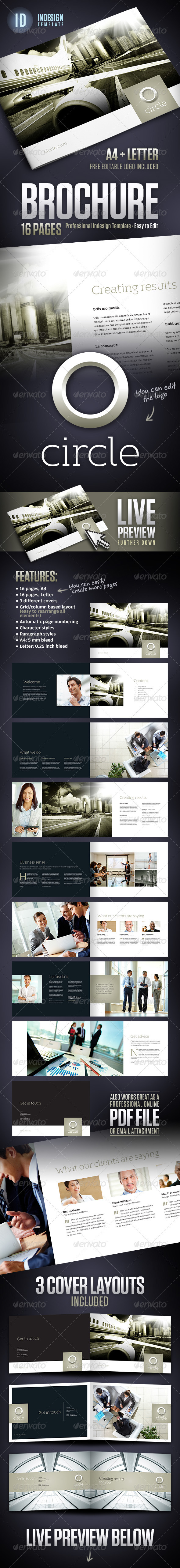 GraphicRiver Circle Corporate Business Brochure A4 & Letter 3086132