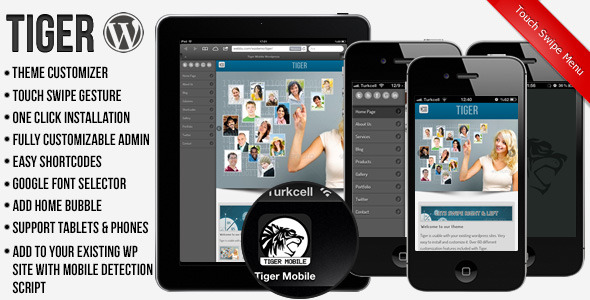 Tiger Mobile Template WordPress Version