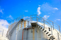 Oil storage tanks under blue sky - PhotoDune Item for Sale