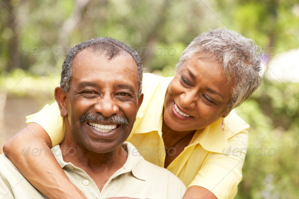 Stock Photo - PhotoDune Senior Couple Outdoors Hugging 318029