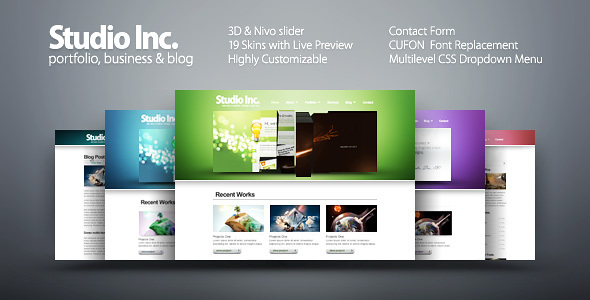 Studio Inc. - portfolio, business & blog - Creative Site Templates