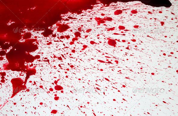 Halloween Concept Blood Splatter Stock Photo By