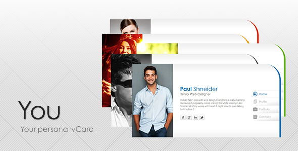 You - Personal vCard Template