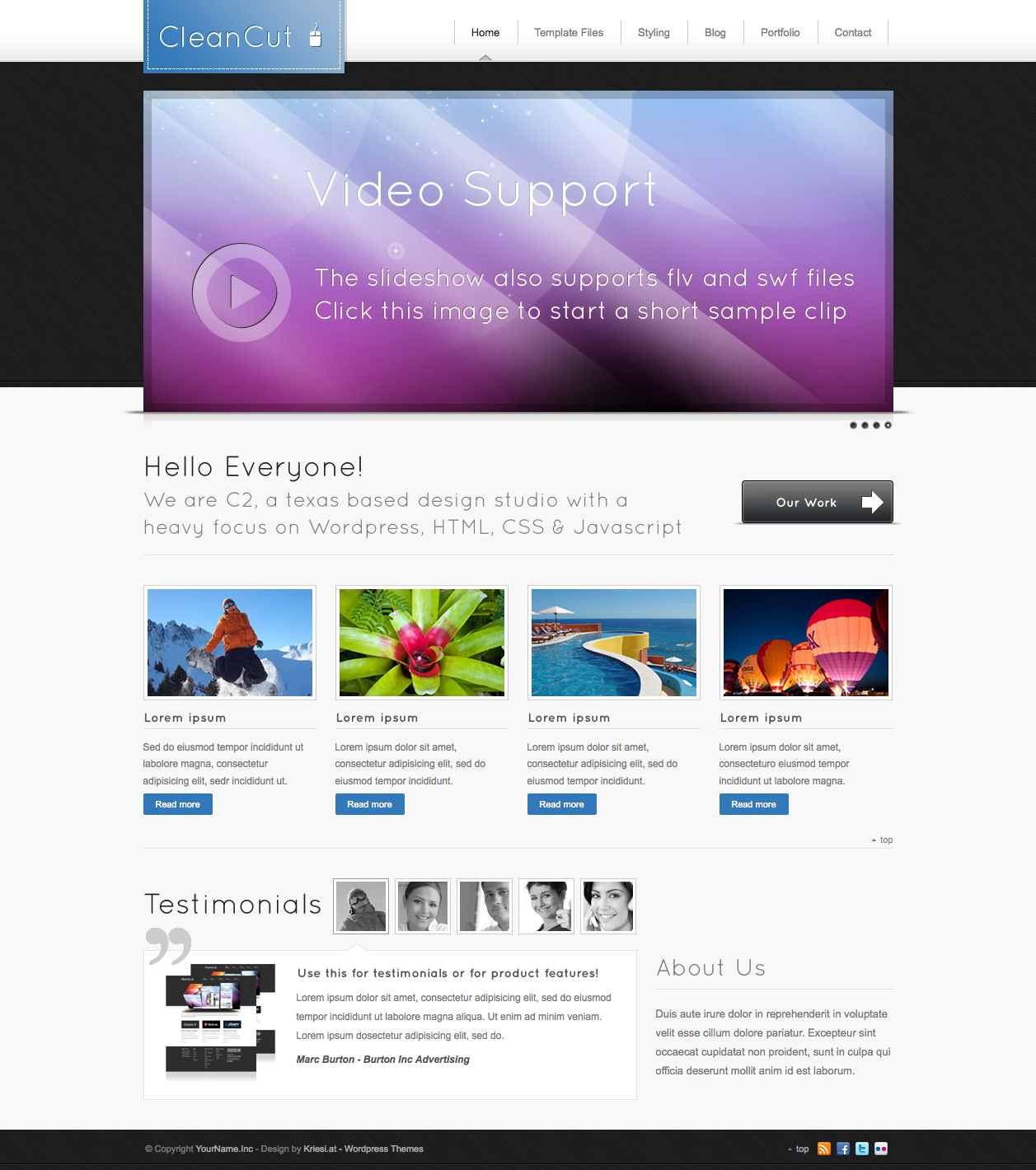 CleanCut - Business and Portfolio Wordpress Theme