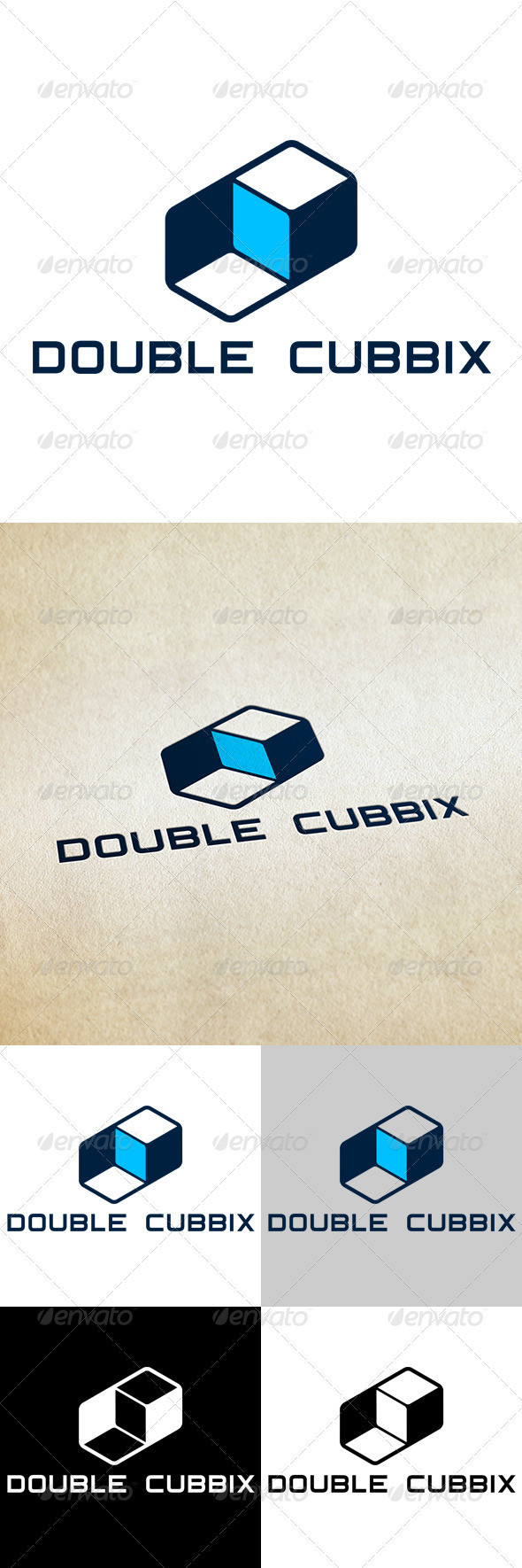 Double Cubbix - Abstract Logo Templates
