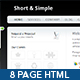 Short & Simple 8 Page HTML Site - ThemeForest Item for Sale