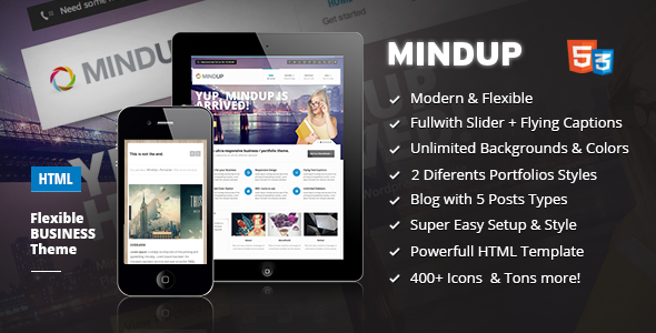 MindUp - A Flexible Corporate HTML Theme