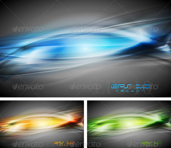Vibrant vector backgrounds - Backgrounds Decorative