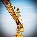Yellow hoisting crane - PhotoDune Item for Sale