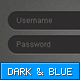 Dark & Blue Forms - GraphicRiver Item for Sale