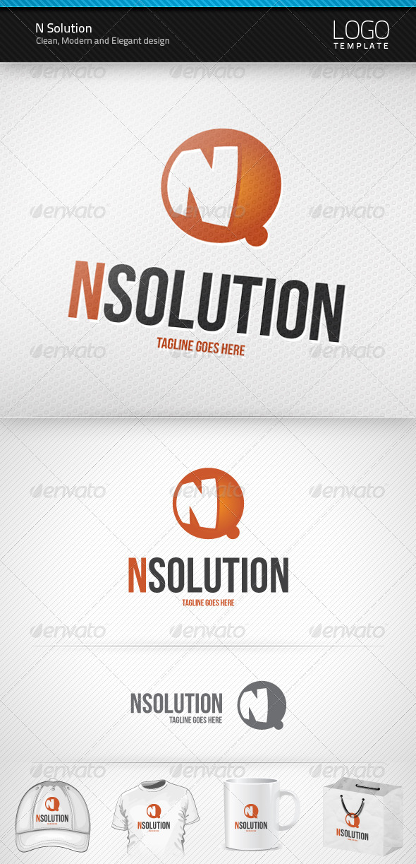 N Solution Logo - Letters Logo Templates