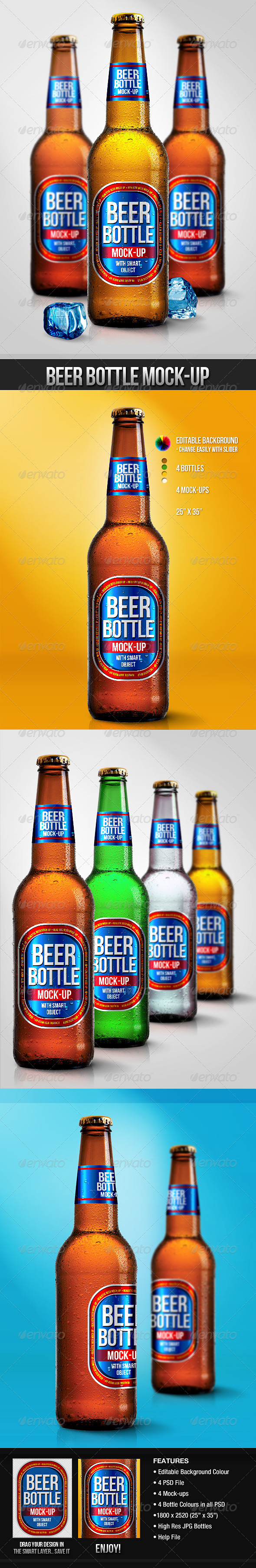 Beer Bottle Mock-Ups - Food and Drink Packaging