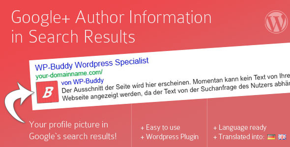 CodeCanyon Google Plus Author Information in Search Results 3093737