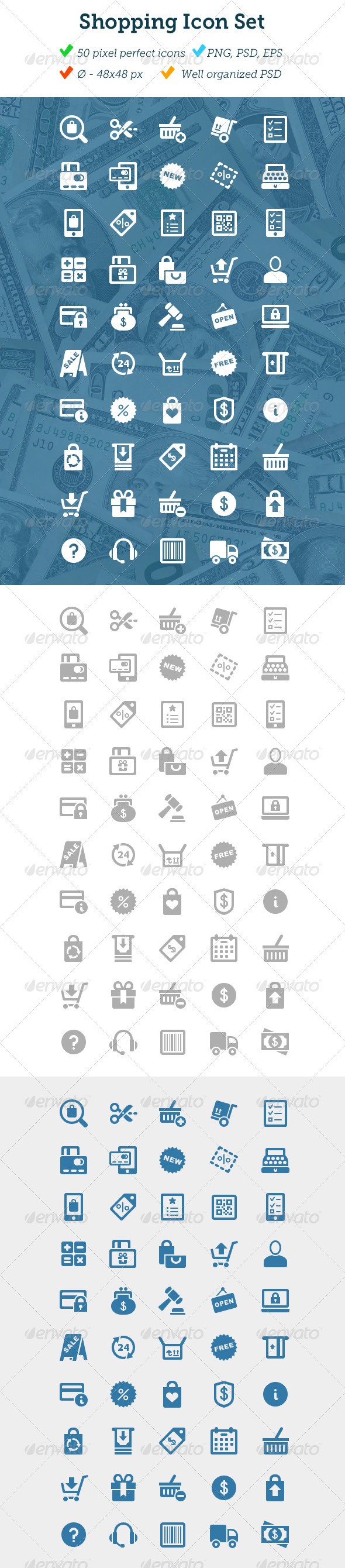GraphicRiver Shopping Icon Set 3100674