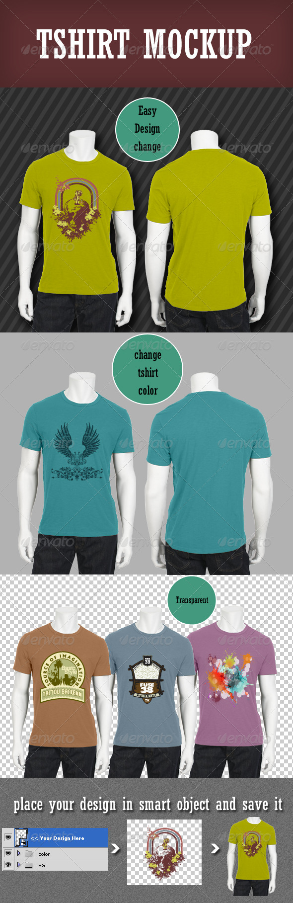 Tshirt Mockup - T-shirts Apparel