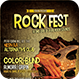 Rock Fest Flyer Template  - GraphicRiver Item for Sale