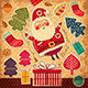 Vector Christmas card with funny Santa Claus - GraphicRiver Item for Sale