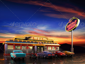 American Diner - PhotoDune Item for Sale