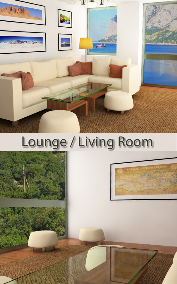 3DOcean Lounge Living Room interior 109991