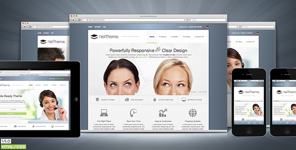 789Theme Premium Responsive Site Template - Preview image